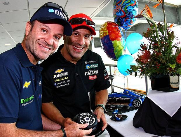 Aniversário de Rubens Barrichello e Tony Kanaan (Foto: Carsten Horst / MPTeam)