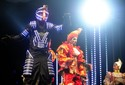 'Robô' do Planeta RS vira atração no meio do público