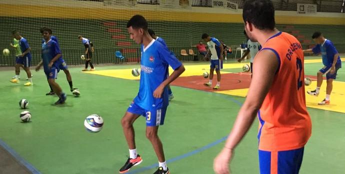 Futsal de Dracena, Dracena, treino (Foto: Murilo Rincon / GloboEsporte.com)