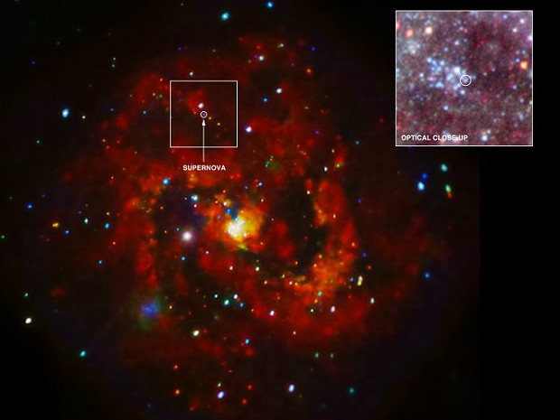 Supernova telescópio Chandra (Foto: Nasa/CXC/STScI/K.Long et al./STScI )
