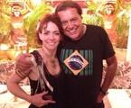 Laila Garin e Dennis Carvalho | Arquivo pessoal