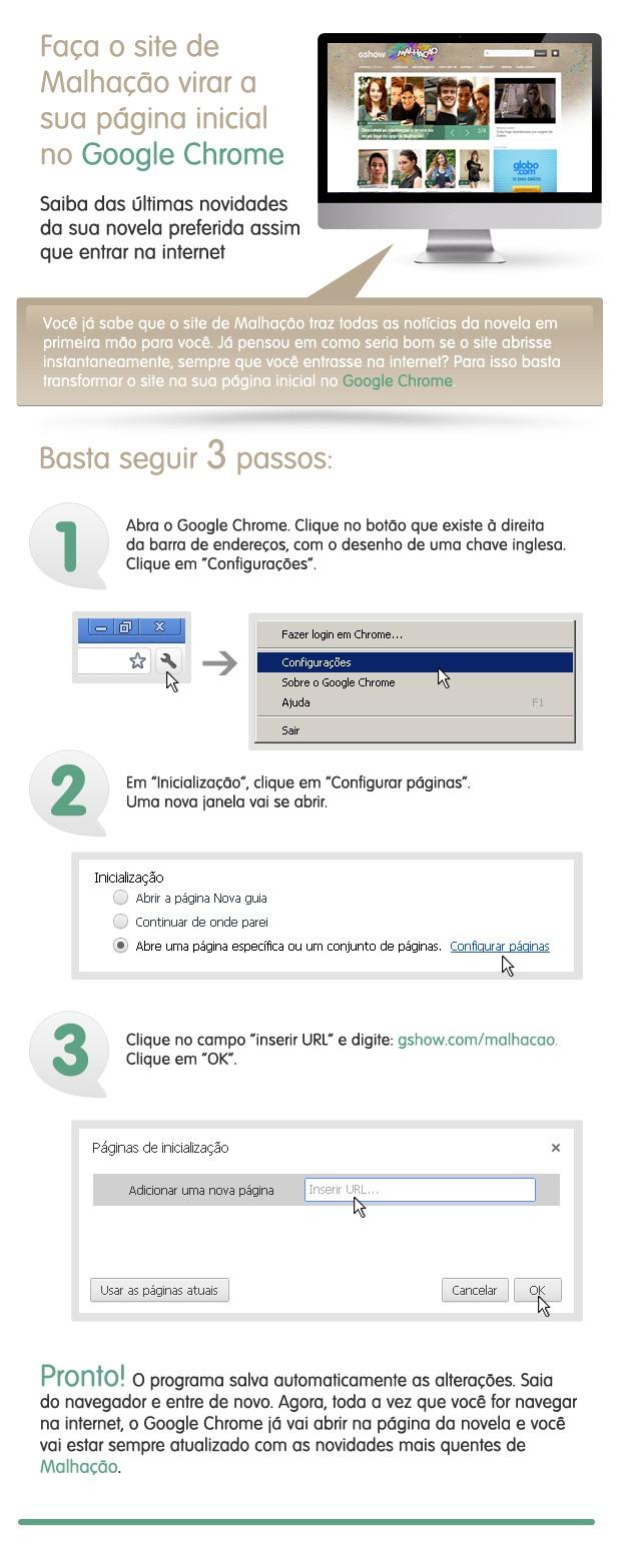 Malhação como página inicial no Google Chrome (Foto: Malhação / TV Globo)