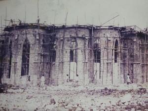 Registro da construção da Catedral no ano de 1929. (Foto: Divulgação/ Tv Grande Rio)