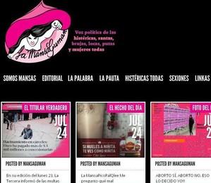 """Site do """"Lamansaguman"""", jornal criado por feministas (Foto: Internet/Reprodução)"""