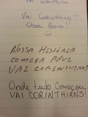Corinthian-Casuals - Livro de visitas do Casuals (Foto: Rodrigo Faber)