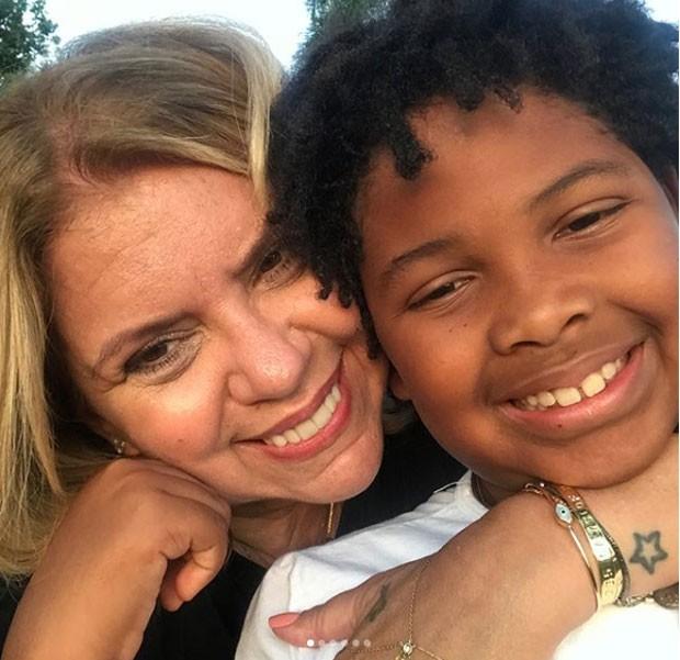 Astrid Fontenelle e o filho, Gabriel (Foto: Reprodução Instagram)