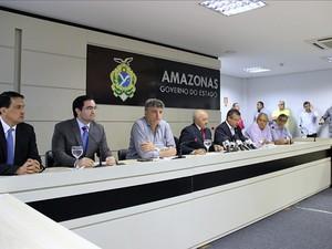 Informações sobre projeto de lei que estabelece reforma administrativa do AM foram divulgadas em Manaus (Foto: Adneison Severiano/G1 AM)