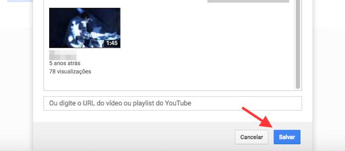 Opção para definir um vídeo em destaque em um canal do YouTube (Foto: Reprodução/Marvin Costa)