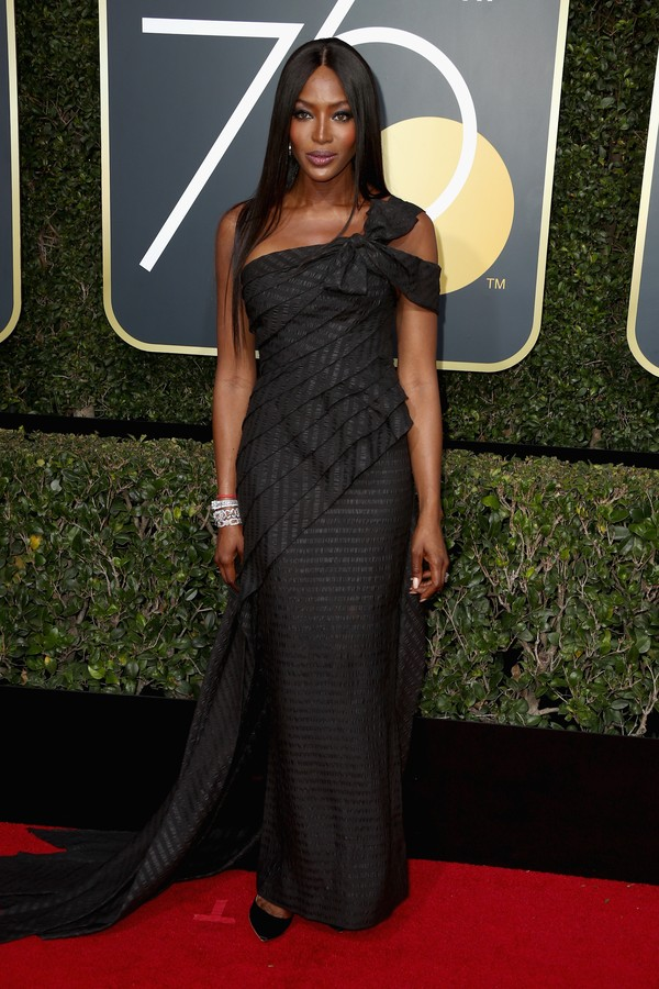 BEVERLY HILLS, CA - JANUARY 07:  Model Naomi Campbell attends The 75th Annual Golden Globe Awards at The Beverly Hilton Hotel on January 7, 2018 in Beverly Hills, California.  (Photo by Frederick M. Brown/Getty Images) (Foto: Getty Images)