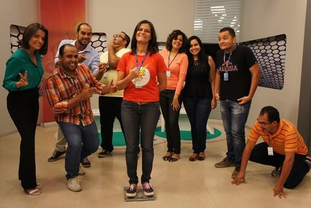 Equipe da TV Cabo Branco encarou o desafio e emagreceram juntos quase 73 kg  (Foto: Alysson Bernardo/TV Cabo Branco)