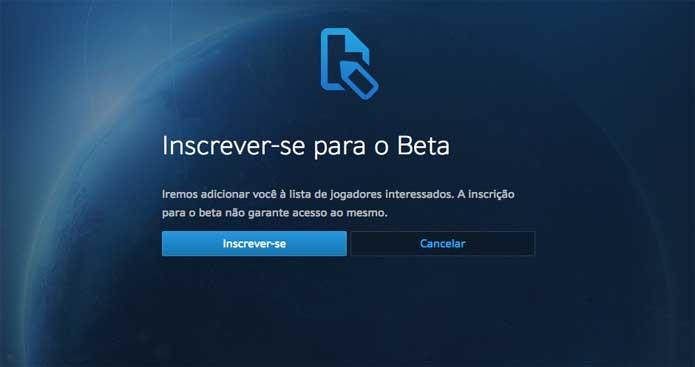 Confirme sua inscrição no beta de Overwatch (Foto: Reprodução/Felipe Vinha)
