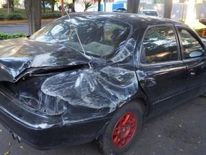 Cadetes que estavam no carro passam bem (Foto: Ademir Naressi/Arquivo pessoal)