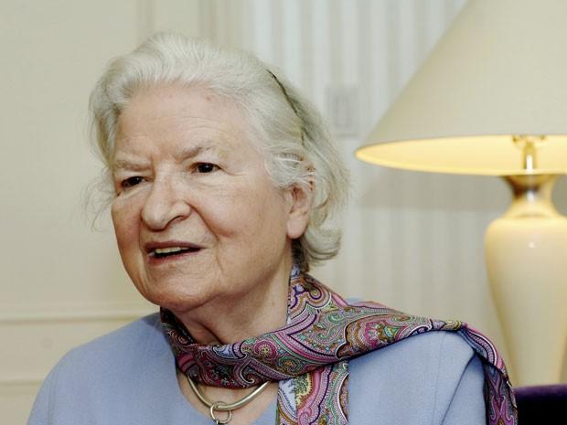 A escritora britânica P.D. James em foto de 27 de novembro de 32005 (Foto: Henny Ray Abrams/AP)