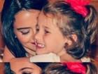 Pally Siqueira posa com a filha de Fábio Assunção: 'É muito amor'