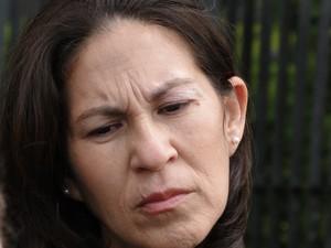 19.nov.2012 - Sônia de Fátima Moura, mãe de Eliza Samudio, diz confiar na condenação de todos os réus (Foto: Pedro Triginelli/G1)