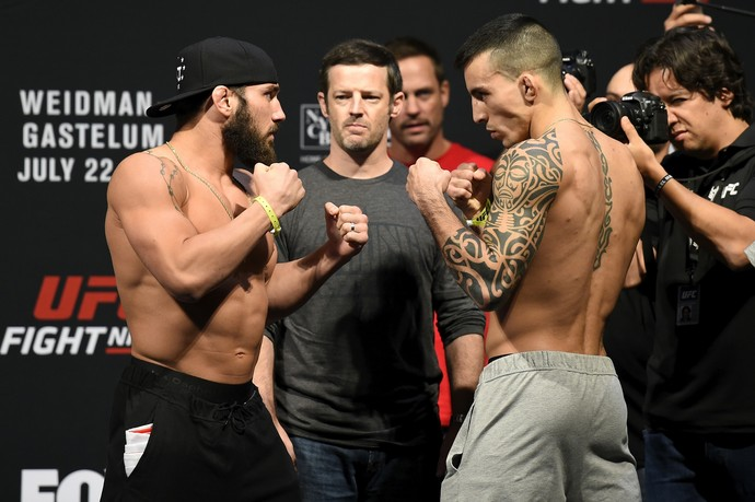 Jimmie Rivera x Thomas Almeida pesagem UFC Long Island (Foto: Getty Images)