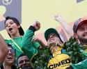 """Aliviado com título em fim de semana difícil, Marcos Gomes diz: """"Santo forte"""""""