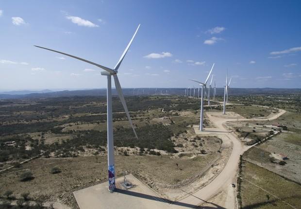 Turbina eólica; energia eólica (Foto: Danilo Reis/Divulgação)