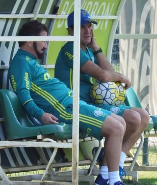 Cuquinha e Cuca Palmeiras (Foto: Rodrigo Faber)