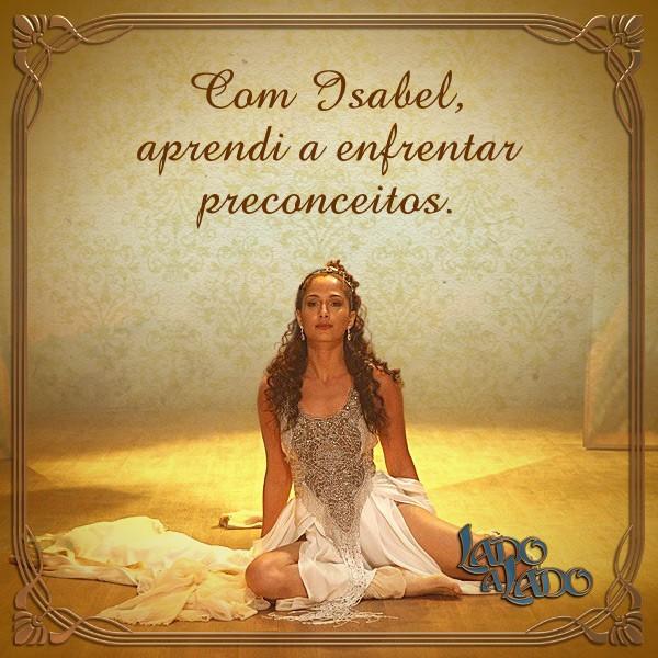 Card Isabel (Foto: Lado a Lado/TV Globo)
