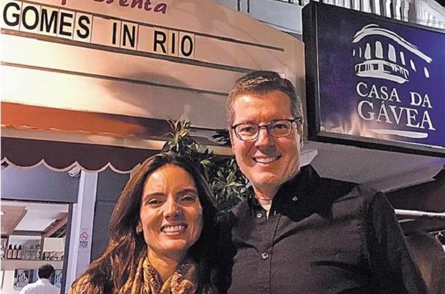 Márcio Gomes e a mulher, Taiga (Foto: Arquivo pessoal)