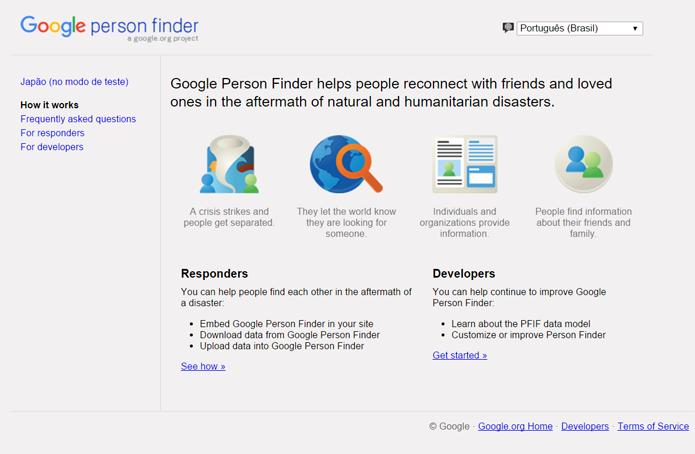 Person Finder foi criado para ajudar parentes a encontrar sobreviventes dos atentados de 11 de setembro (Foto: Reprodução/Filipe Garrett)