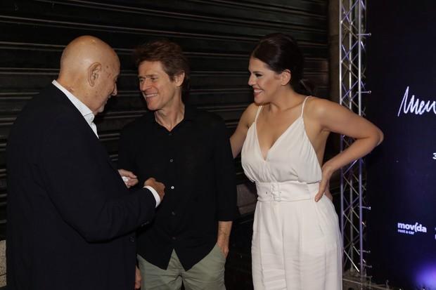 Hector Babenco, Willem Dafoe e Bárbara Paz (Foto: Felipe Assumpção/Agnews)