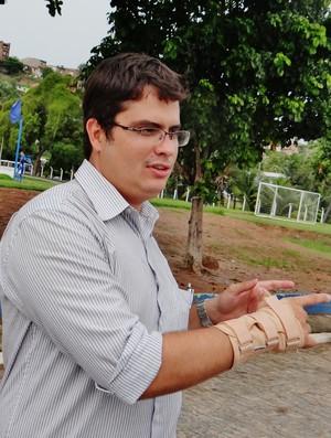 Marco Túlio, diretor financeiro do CSA (Foto: Henrique Pereira/ GloboEsporte.com)