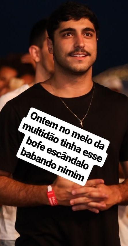 Thiago Magalhães assiste a show de Anitta (Foto: Reprodução/Instagram Stories)