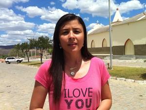 Ceiça Lisboa, candidata pelo DEM (Foto: Caroline Holder/ G1)