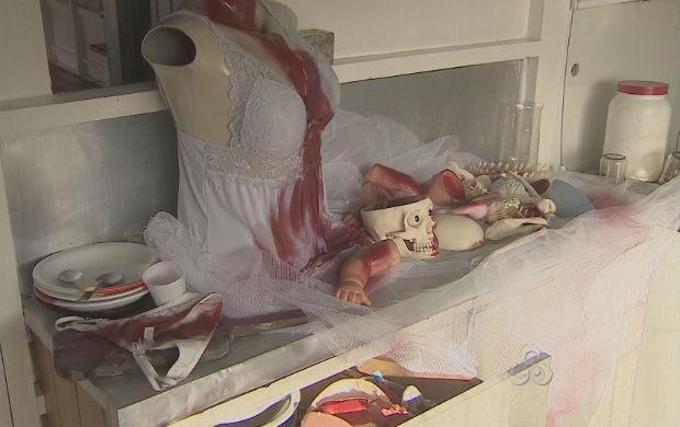 Exposição aborda a violência contra a mulher ribeirinha (Foto: Reprodução/TV Amapá)