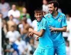 Santos lança novo uniforme, azul-turquesa (Marcos Ribolli / Globoesporte.com)