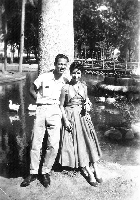 Parque Moscoso em Julho de 1953 (Foto: Acervo da família Santos Neves)