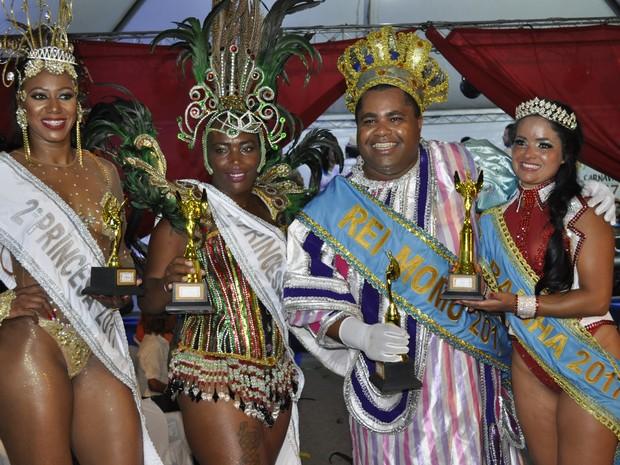 Poços de Caldas (MG) conhece a nova corte carnavalesca  (Foto: Lúcia Ribeiro/G1)