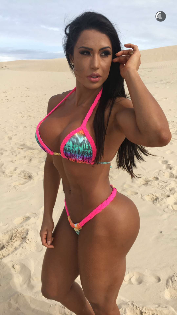 Gracyanne Barbosa  (Foto: Reprodução/Snapchat)