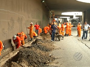 Túnel do Entroncamento Belém (Foto: Reprodução/TV Liberal)