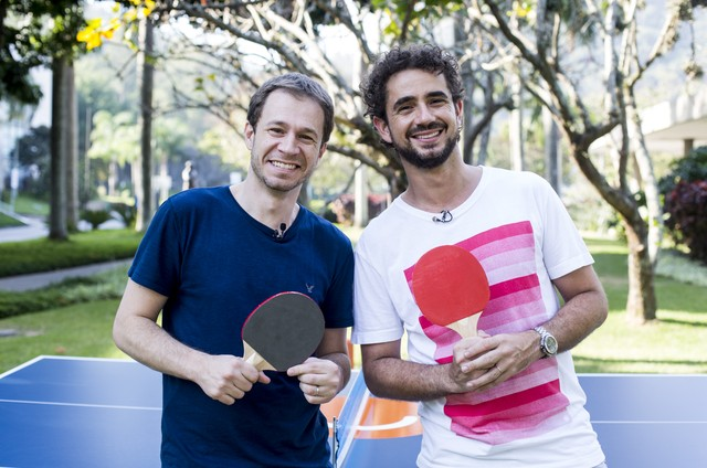 Felipe Andreoli gravou com  Tiago Leifert a série 'Ping pong com Andreoli' (Foto: Divulgação)