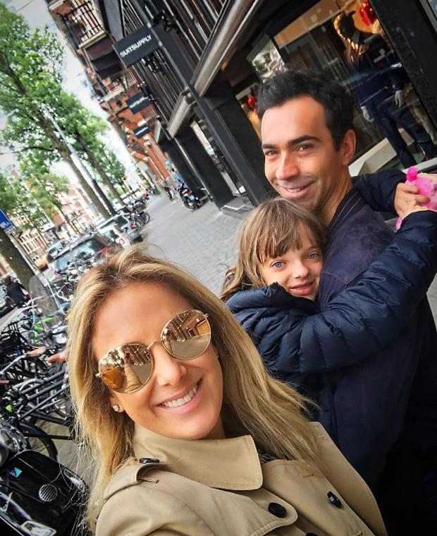 César Tralli e Ticiane Pinheiro com Rafa Justus (Foto: Reprodução/Instagram)