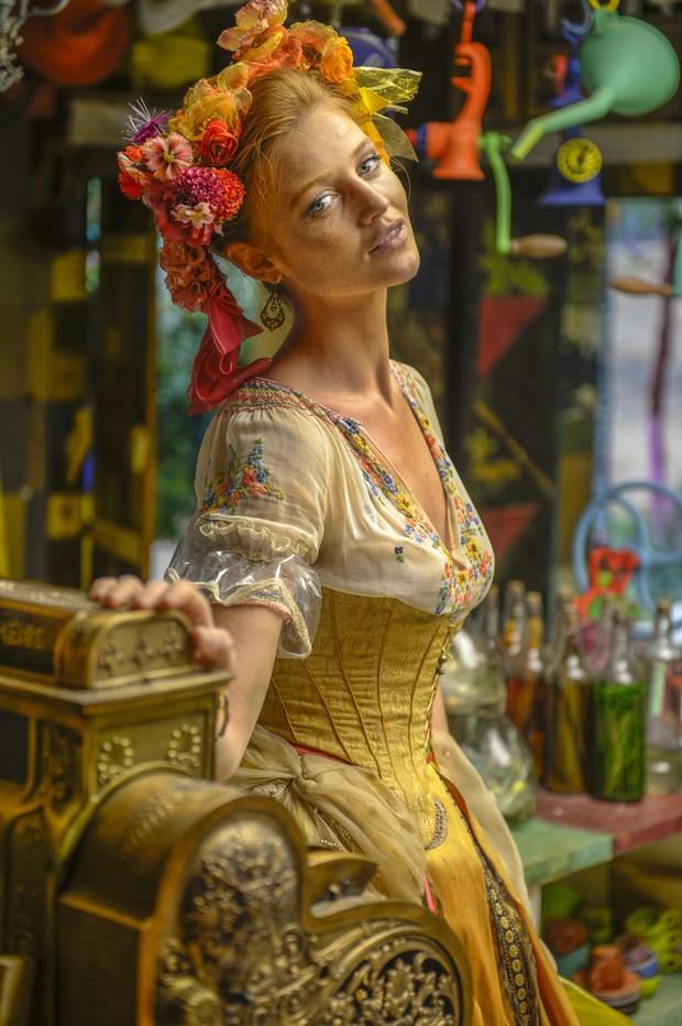 Cintia Dicker na novela Meu Pedacinho de Chão (Foto: Globo/Renato Rocha Miranda)