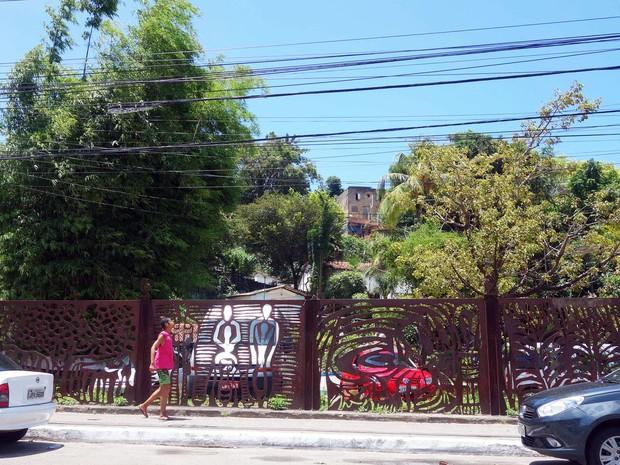 Terreiro Casa de Oxumaré fica na Avenida Vasco da Gama, em Salvador (Foto: Egi Santana/G1)