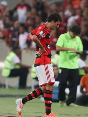 Elano machucado Flamengo x Leon (Foto: EFE)