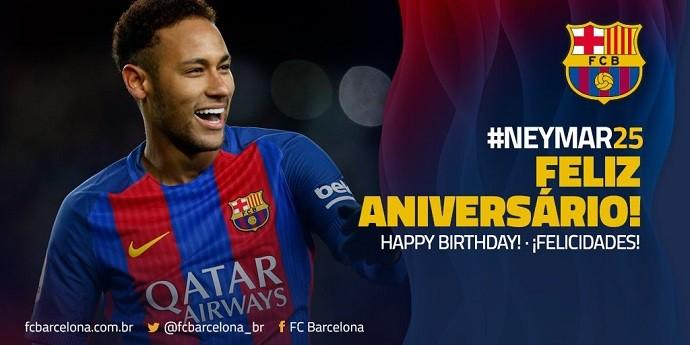 Neymar aniversário Barcelona
