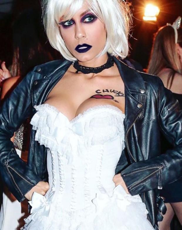 Lia Khey se veste como a noiva de Chucky (Foto: Reprodução/Instagram)