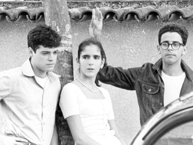 Felipe Camargo, Taumaturgo Ferreira e Malu Mader (Foto: CEDOC/TV Globo)