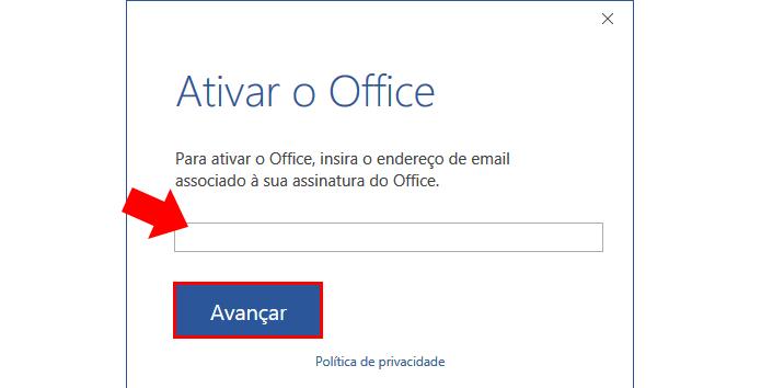 ativar office 2019