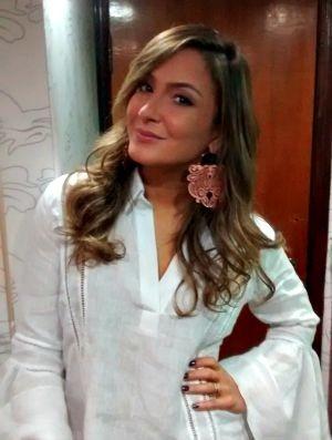 Claudia Leitte nos bastidores do Fortal (Foto: Ana Livia Alves/ Gshow)