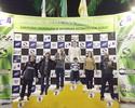 Atacante Caio reúne família e amigos em corrida de kart em Volta Redonda
