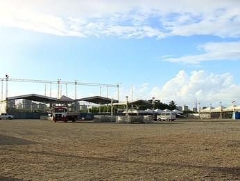 Estrutura do Forrozão começa a ser montada em Aracaju (. (Flávio Antunes/G1 ))