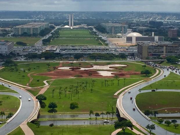 Projeto de Jardim Burle Marx entre a Torre de TV e a Rodoviária do Plano Piloto, no Distrito Federal  (Foto: Jéssica Nascimento/G1)