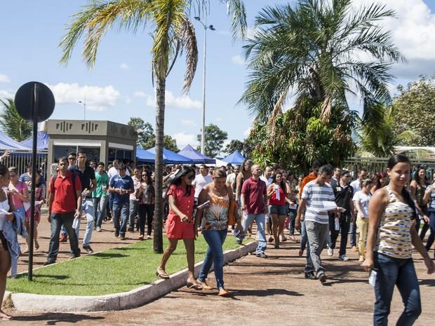 Provas do concurso da Polícia Civil foram realizadas neste domingo (1) no Tocantins (Foto: Divulgação/Ascom Fundação Aroeira)